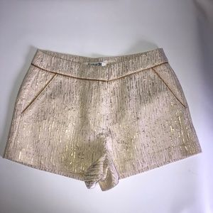 Forever 21 Shorts Cream & Gold Size: S